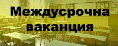 Междусрочна ваканция за учениците от I до VI клас - Изображение 1