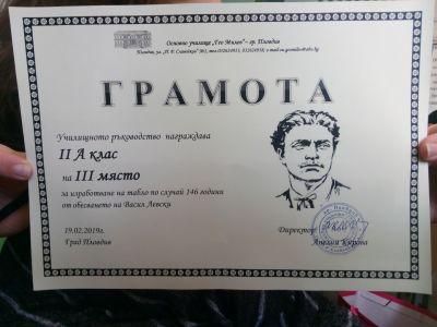 Грамота - ОУ Гео Милев - Пловдив