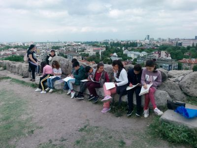 "Рисунка на тема ""Панорамен пейзаж"" - посещение на Небет тепе - ОУ Гео Милев - Пловдив"